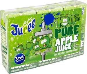 Jucee 100% Pure Apple / Orange Juice / Jucee 100% Cherries and Berries (3 x 200ml) was £1.49 now 74p @ Tesco