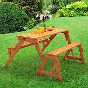"""2 in 1 Picnic Table Set & Garden Bench """"Modbury"""" £69.99 Sold by Big Home Shop and Fulfilled by Amazon"""