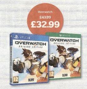 Overwatch £32.99 (25% off) @ Sainsbury's