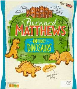 Bernard Matthews Farms British Turkey (46%) Dinosaurs (10 Pack = 500g) was £1.97 now £1.00 @ Morrisons