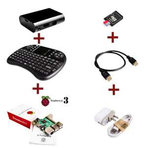 Raspberry Pi 3+Case+HDMI+8G Card+5V 2.5A power adapter+2.4G wireless keyboard £45.42 (£42.55 with quidco) @ aliexpress quidco