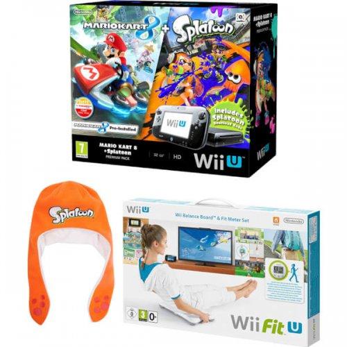Premium Nintendo Wii-U with Mariokart 8 + splatoon + Wii fit board + Splatoon Hat £259.99 @ Nintendo
