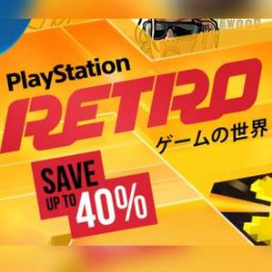 PlayStation Retro Sale - PS4 / PS3 / PS Vita