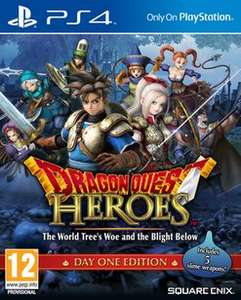Dragon Quest Heroes (Day One Edition) PS4 £9.99 @ GAME