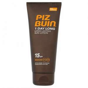 Piz Buin Spf15 100ml Now 50p @ B&M