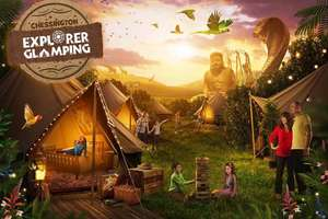Chessington World of Adventures Resort Glamping for 4 people +Tickets for 4 including 2 Days Entry to Theme Park, Sea Life Centre and Zoo £149 September 1st  (School Holiday) - Wowcher