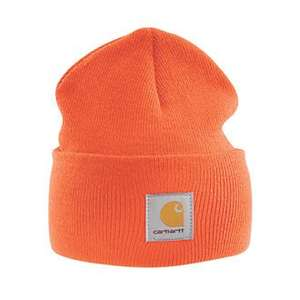 Carhartt A18 Beanie Hat Heather Grey / Black or Orange One Size £9.99 @ Screwfix (Click & Collect available)