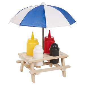 B&M : £1.99 for wooden picnic bench condiment set