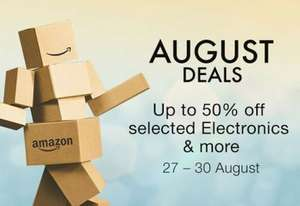 Amazon - Up to 50% off on selected electronics and more (27th - 30th August)
