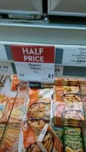 Quorn chicken fillets 312g half price waitress at Waitrose for £1.00