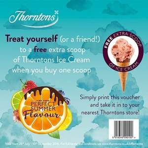 FREE scoop of ice cream when you buy one at Thorntons (from £2)