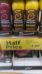 Innocent Super Smoothie Energise 750Ml £1.69 @ Tesco