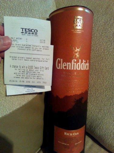 Glenfiddich Rich Oak 14yrs only £17.80!!! @ Tesco