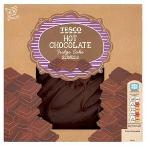 Tesco Hot Chocolate Fudge Cake 700G Half Price £2.75 @ Tesco