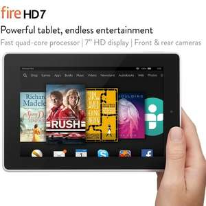 "Used - GOOD Fire HD 7, 7"" HD Display, Wi-Fi, 16 GB (White) - Includes Special Offers BARGAIN PRICE at Amazon for £16.09"