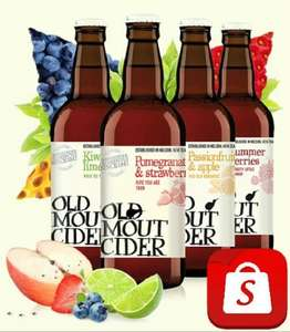 Shopitize £12 Cash Back Special Offer with £2/£3 Profit: 6 x Old Mout Cider (500ml) - £2.19 (19p) 3 for £5 (£2 Profit) @ Tesco; £1.50 (£3 Profit) @ Tesco Express...
