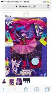 My Little Pony Equestria Girls Rainbow Rocks Deluxe Dress Twilight Sparkle Doll Was £22.99 now £6.27 delivered or £6.70 with prime Delivery