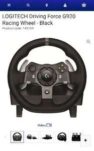 Logitech Driving Force G920 Racing Wheel for Xbox One and PC £143.99 @ Currys
