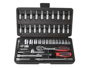 POWERFIX Ratchet & bit set 40 piece £12.99 from Lidl