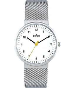 Braun Women's Steel Mesh Analogue Watch £48.30 Amazon UK