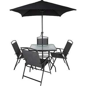 Miami 6 piece garden set in charcoal at Asda for £19.75
