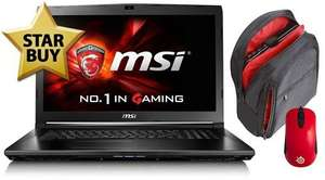 "Entry level gaming laptop 17"" MSI GL72 6QC-024UK - Saveonlaptops.co.uk - £699.97"