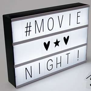cinema light box £9.99 @ homebargains