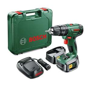 Bosch PSB 1800 LI-2 Cordless Lithium-Ion Hammer Drill Driver with Two 18 V Batteries £68 Amazon & FREE Delivery in the UK