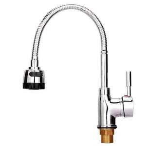 [All Direction Flexible Spray] Hapilife Modern Single Lever Swivel Brass Mono Kitchen Sink Mixer Tap Chrome £15 delivered [Lightning deal] Sold by HST MALL and Fulfilled by Amazon
