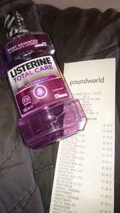 listerine total care 500ml mouthwash £1 in poundworld