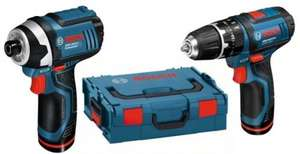 Bosch GSB 10.8-2-Li + GDR 10.8-Li 10.8v Li-Ion 2 Speed Combi Drill+Impact Driver in L-BOXX (2x2.0Ah) at Lawson-his for £137.94