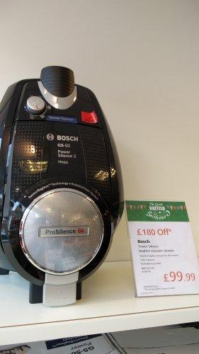 Bosch prosilence 66 bagless vacuum cleaner -  £99.99 @ Morleys