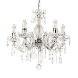 Marie Therese 5 Light Chandelier £22.43 at Homebase