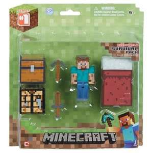 minecraft survival pack figure sets in tesco - £3.75