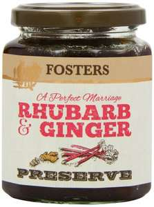 Amazon S&S Fosters Rhubarb and Ginger Preserve 330 g (Pack of 3) - £3.38