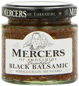 Amazon S&S Mercers Black Balsamic Wholegrain Mustard 100 g (Pack of 6) £2.34 delivered