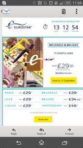 Eurostar - Europe from £29 one way