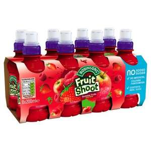 Robinsons Fruit Shoot All Varieties (8 x 200ml) was £2.98 now £1.44 @ Tesco