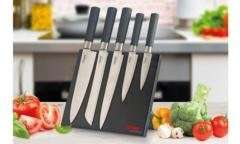 Clifford James Professional 5 Piece Knife Set with Magnectic Block - £17.99 (was £39.99)
