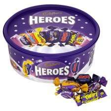 heroes, rose, celebrations, quality street £5 Tesco