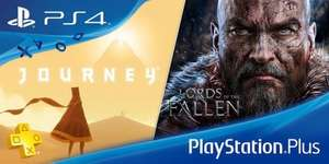 PlayStation Plus September [Journey and Lords of the Fallen / Prince of Persia: The Forgotten Sands / Datura / Badland / Amnesia: Memories]