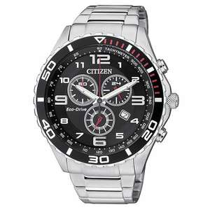 Citizen Eco Drive Men's Stainless Steel Chronograph Watch for £99.99 delivered at H.Samuel