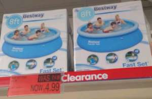 Bestway Fastset Paddling Pool - 8ft * 26 inches - was £14.99 now only £4.99 at B&M