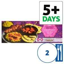 Tesco indian Meal For 2 £5  [2xcurry+4 onion bhajis+pilau rice+2 naan bread]