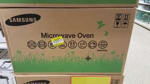 Samsung microwave oven reduced to clear £39.99 Tesco instore