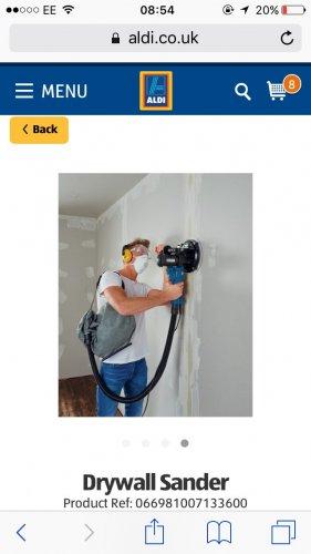 Workzone 710w Drywall Sander at Aldi - £49.99