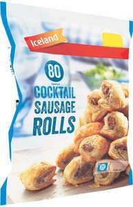 Iceland Cocktail Sausage Rolls (80 Approx per pack - 1.12Kg) was £2.00 now 2 packs for £3.00 @ Iceland