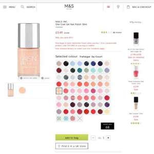 a few nails inc gel polishes down from £13 to £3.49 free c&c or over £50 orders at M&S