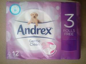 Andrex toilet roll 12 pack £2.99. Semichem in store.