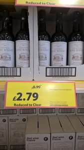 Red wine reduced from £8.99 to £2.79 looks like instore only @ Tesco